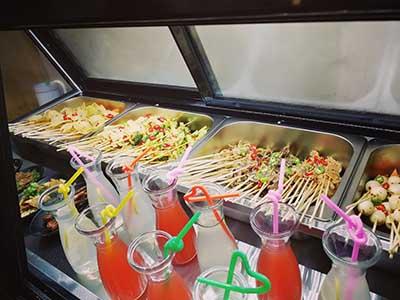 罗罐中米粉冷锅串串